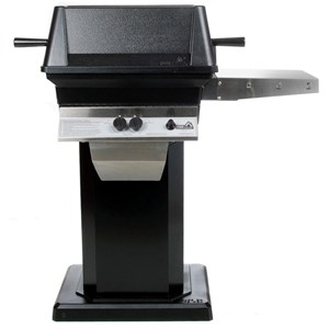 PGS A30 Cast Aluminum Gas Grill on Black Flat Patio Base A30+ABPED+ANB