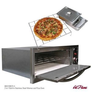 Cal Flame 2 In 1 Built-In Warmer and Pizza Oven