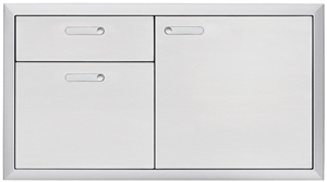 "LYNX PROFESSIONAL 42"" VENTANA Storage Door & Double Drawer Combination LSA42-4"