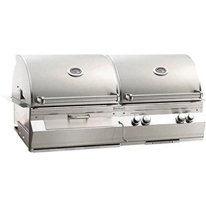 Fire Magic Aurora A830i Built-in Dual Natural Gas And Charcoal Combo Bbq Grill With Rotisserie - A830i-6ean-cb