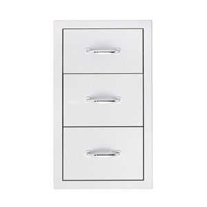 SUMMERSET STAINLESS STEEL TRIPLE DRAWERS SSDR-3