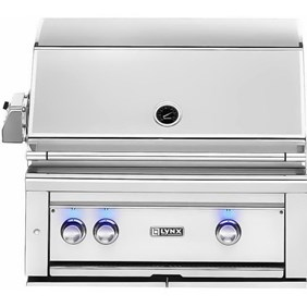 """LYNX PROFESSIONAL 30"""" Built-in Grill with 1 Trident Sear Burner and Rotisserie L30TR NEW 2018 MODEL"""