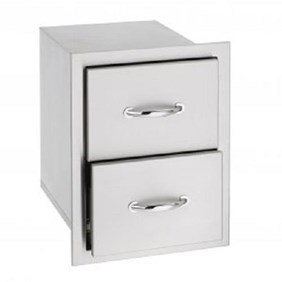SUMMERSET STAINLESS STEEL DOUBLE DRAWERS  SSDR-2