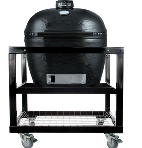Primo Xl 400 Ceramic Charcoal Smoker Grill On Cart With Wheels #368