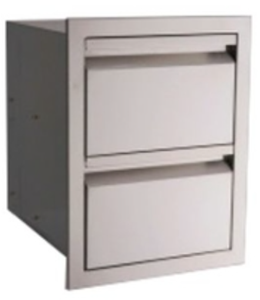 RCS VALIANT SERIES STAINLESS STEEL DOUBLE DRAWERS FULLY ENCLOSED - VDR1 NEW 2018 MODEL