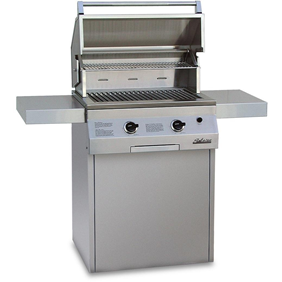 "Solaire 27"" Grill and Deluxe Square Cart Base SOL-IRBQ-27GXLC"