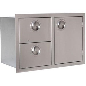 Luxor Slimline 30-Inch Stainless Steel Door And Double Drawer Combo - AHT-COMBO-30