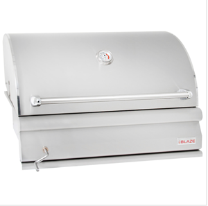 Blaze 32-Inch Built-In Stainless Steel Charcoal Grill With Adjustable Charcoal Tray - BLZ-4-CHAR