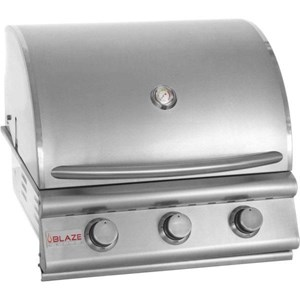 Blaze 25 Inch 3 Burner Built In Grill - Natural Gas - BLZ-3-NG