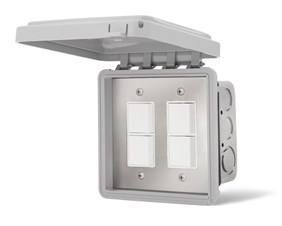 Infratech On/Off Switch - Dual Duplex/Stack (Surface Mount) With Weatherproof Box  For Electric Heater  14-4325
