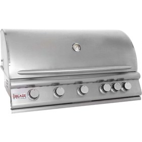 "Blaze 40"" 5 Burner Built In Grill Natural Gas"