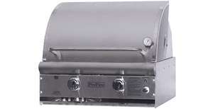 ProFire Professional DLX Series 27-Inch Built-In Infrared Hybrid  Gas Grill With Rotisserie - PFDLX27RIH