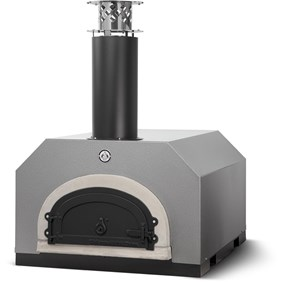 Chicago Brick Oven CBO-750 Countertop Outdoor Wood Fired Pizza Oven - Silver Vein