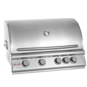 "Blaze 32"" 4 Burner Built In Grill With Rear Burner BLZ-4-NG"