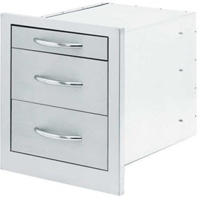 Cal Flame 3-Drawer Built-In BBQ Storage Bin
