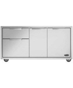 DCS CAD1-48 48-Inch Grill Cart, Brushed Stainless Steel