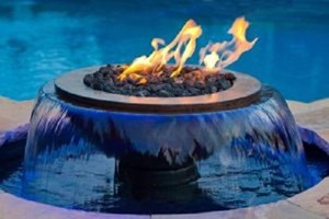HPC Evolution 360 Fire and Water Feature-  360° Water Effect,  Copper, Electronic Ignition Fire,  Gas- WB52R-TEMP360 EI