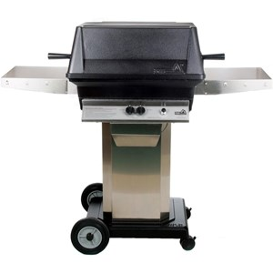 PGS A40 Cast Aluminum Propane Gas Grill/ Stainless Steel Portable Pedestal Base A40LP+ASPED+ALC