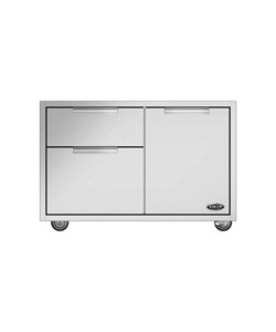 DCS CAD1-36 36-Inch Grill Cart, Brushed Stainless Steel