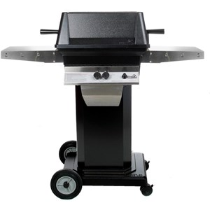 PGS A40 Cast Aluminum Natural Gas Grill on Black Portable Pedestal Base A40NG+ABPED+ANC