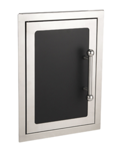 FireMagic BLACK DIAMOND SINGLE ACCESS DOOR (HINGED LEFT) 53920H-SL
