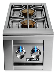 LYNX PROFESSIONAL Double Side-Burners (BUILT IN) LSB2-2