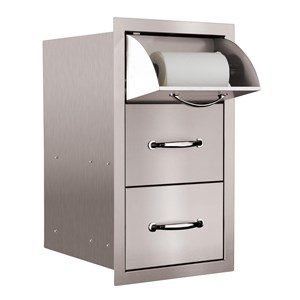 STG Excalibur Premier 15-in. Stainless Steel Towel & 2 Drawer Combo