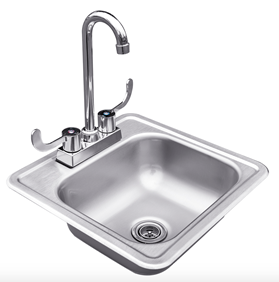 "STG EXCALIBUR PRO 15"" SINK AND FAUCET"