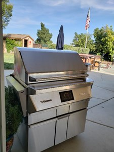 Twin Eagles Wood Fired Pellet Smoker & Grill with rotisserie and cart base (FREESTANDING Model) TEPG36R + TEPGB36