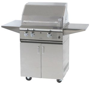 ProFire Professional Series 27-Inch Freestanding Infrared Hybrid Gas Grill -  PF27GIH + PF27SSCBN