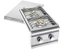 STG EXCALIBUR PRO DOUBLE SIDE BURNER WITH BLUE LED LIGHTS STGDBEL