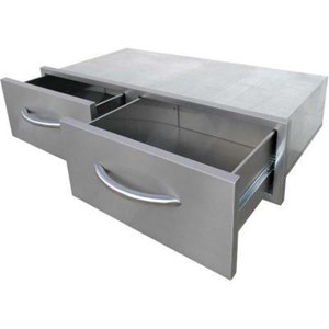 Cal Flame 2-Drawer Built-In BBQ Horizontal Bins