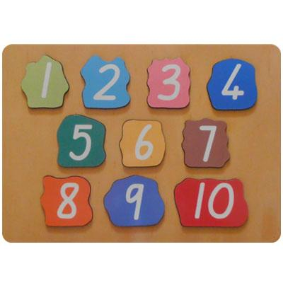 Matching Numbers Puzzle 1 10 Wood Puzzles