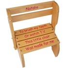 Pine Kindy Chair (pink writing)