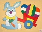 Easter Bunny and cart Puzzle
