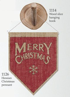 Hessian Pennant Christmas