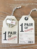 Pair of Scissors on Grey Card