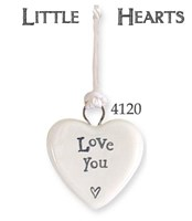 Porcelain token tiny heart