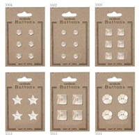 Mother of Pearl Buttons on card