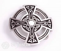 BU11 - Celtic Cross Belt Buckle