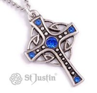 Crystal loop cross pendant