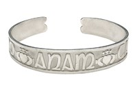 Anam Cara Bangle - Silver