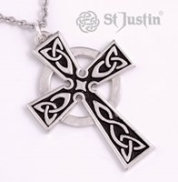 XP37  - Men's Large Pewter Celtic Cross