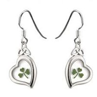 S33289 Real Shamrock Earrings