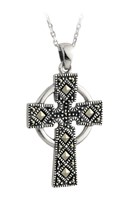 S4422 - Marcasite Celtic Cross