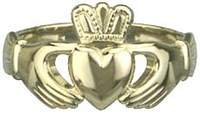 Heavy Traditional Claddagh Ring