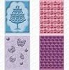 CUTTLEBUG Embossing Folder Set Once Upon a Princess 2 x A2 size folders and 2 larger 5