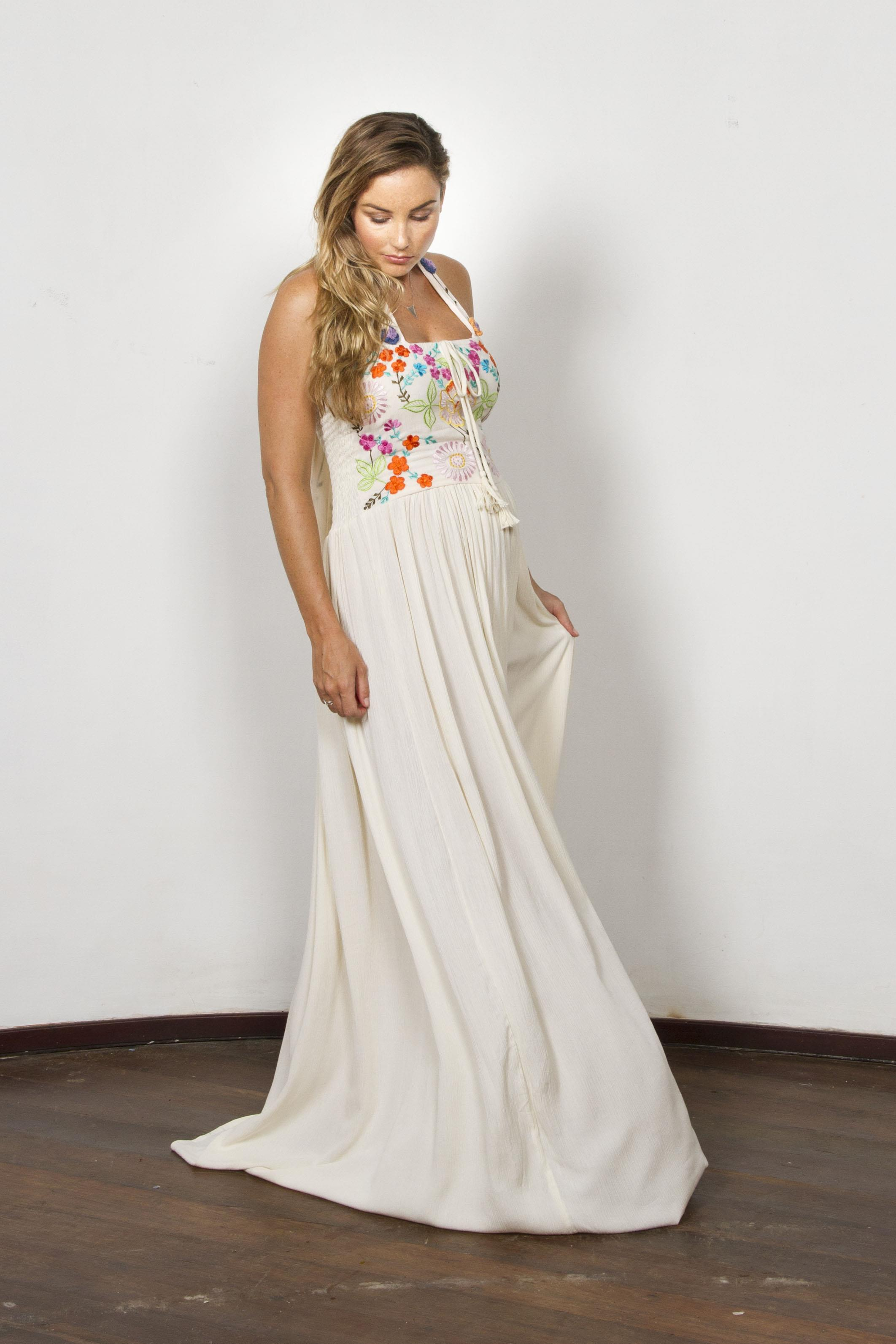 Quot Botanica Quot Women S Crochet And Embroidered Maxi Dress