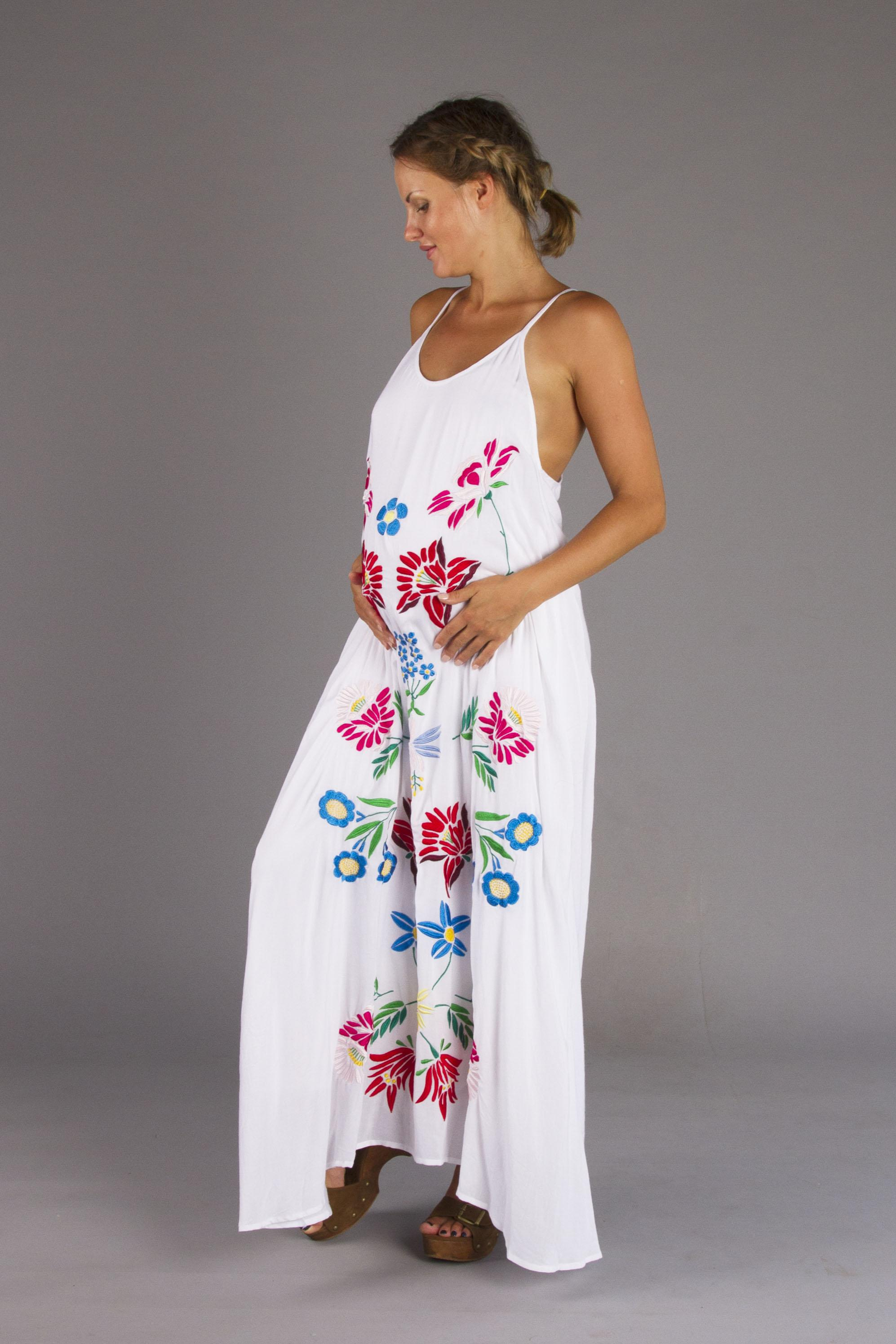 Ours is love embroidered maternity maxi dress fillyboo boho ours is love embroidered maternity maxi dress ombrellifo Choice Image