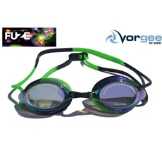 VORGEE MISSILE FUZE GOGGLES RAINBOW MIRRORED, BLACK & GREEN